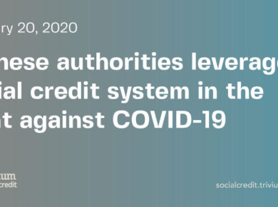 Social credit and coronavirus: What is social credit?
