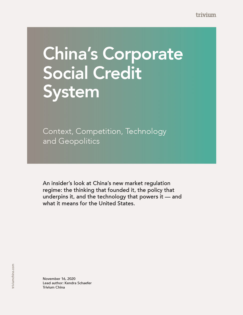 Corporate Social Credit System Report